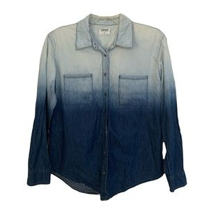 Garage Ombré Blue Denim Button Up Shirt